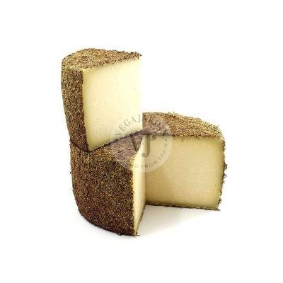 Von Hand hergestellter Schafskäse mit Rosmarin