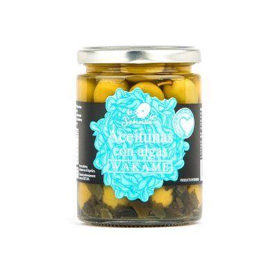 Manzanilla Oliven mit Wakame Algen 190 g