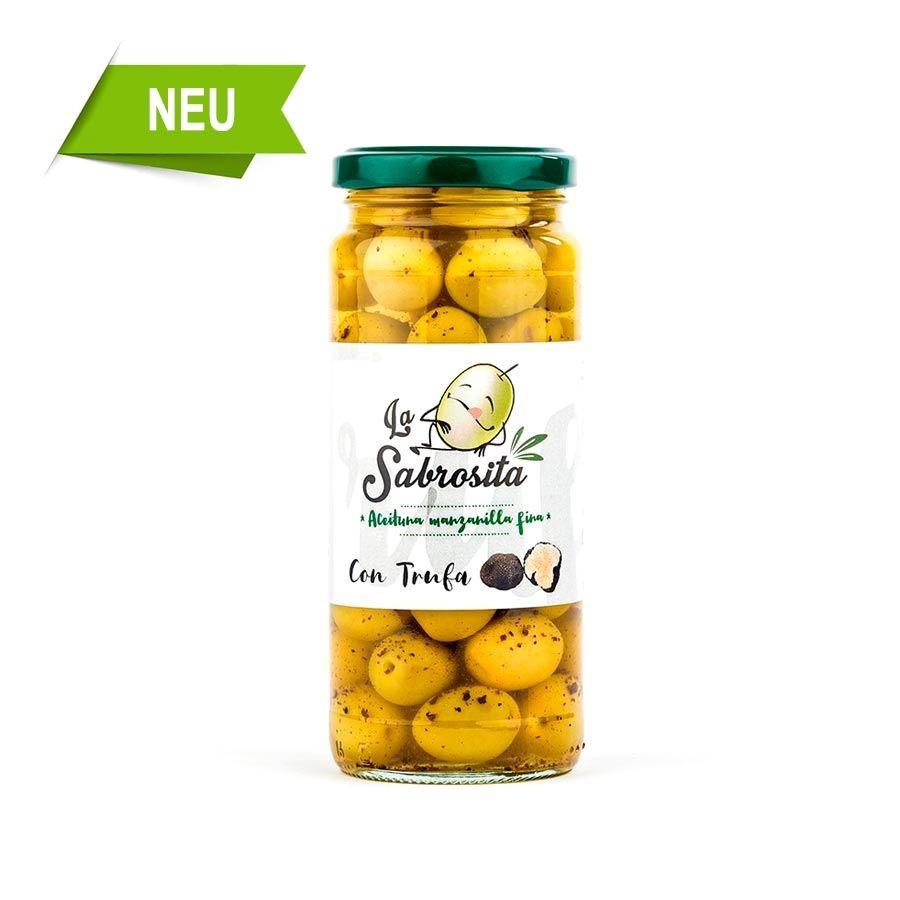 Manzanilla Oliven mit Trüffel 190 g