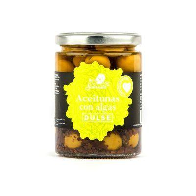 Manzanilla Oliven mit Dulse Algen 190 g