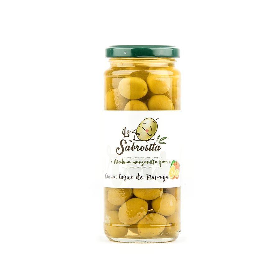 Manzanilla Oliven mit einem Hauch nach Orange 195 g