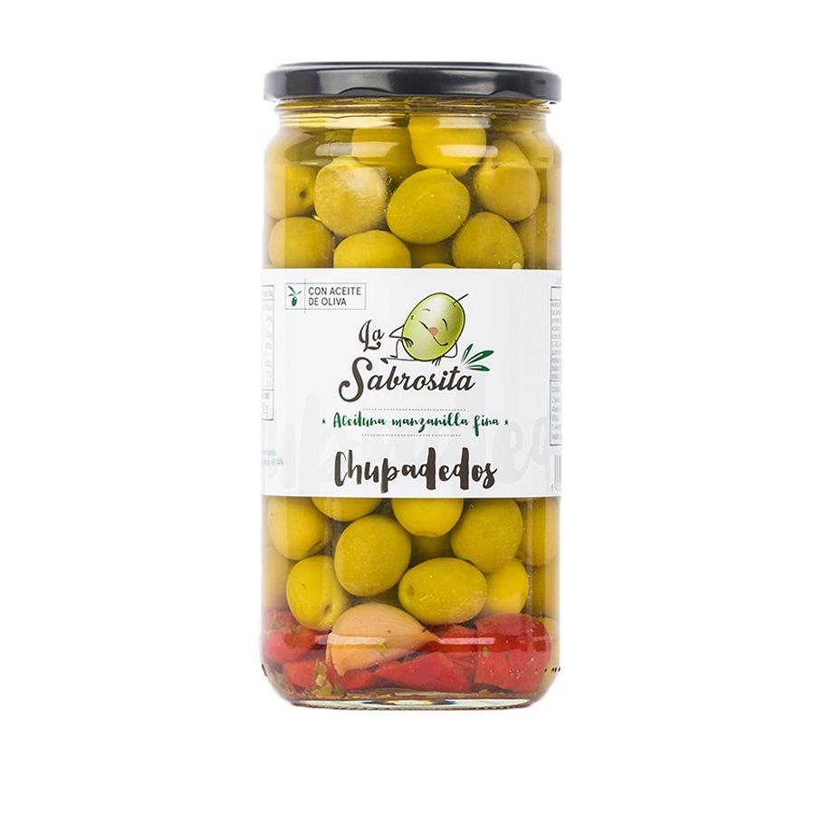 Chupadedos Manzanilla Oliven 400 g